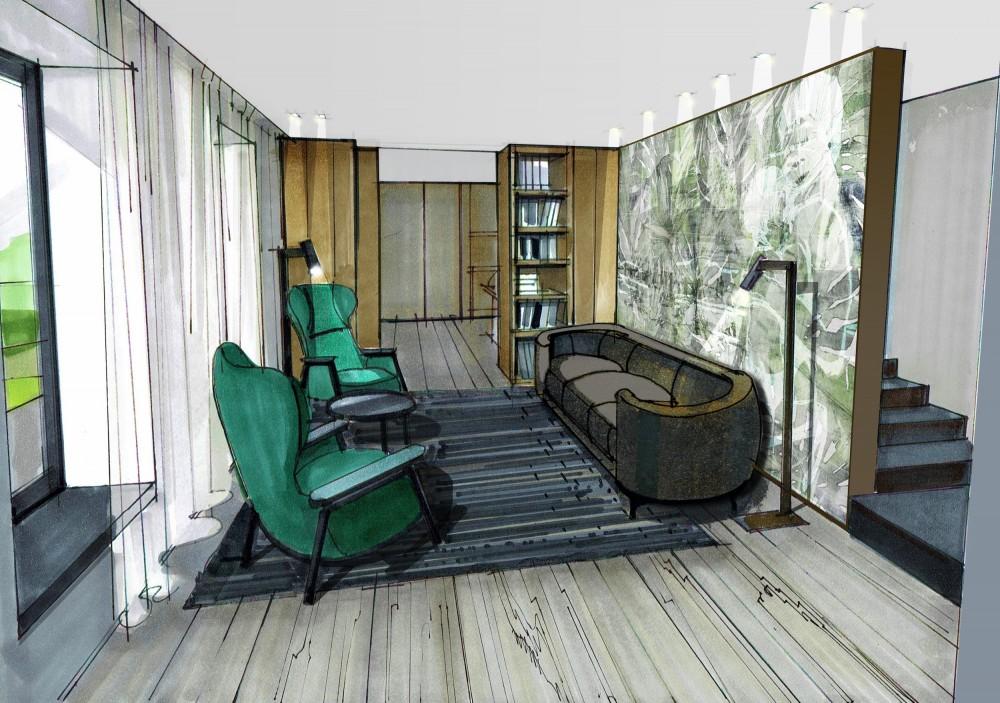 moderner landsitz in nieder sterreich christine buzzi interior design. Black Bedroom Furniture Sets. Home Design Ideas